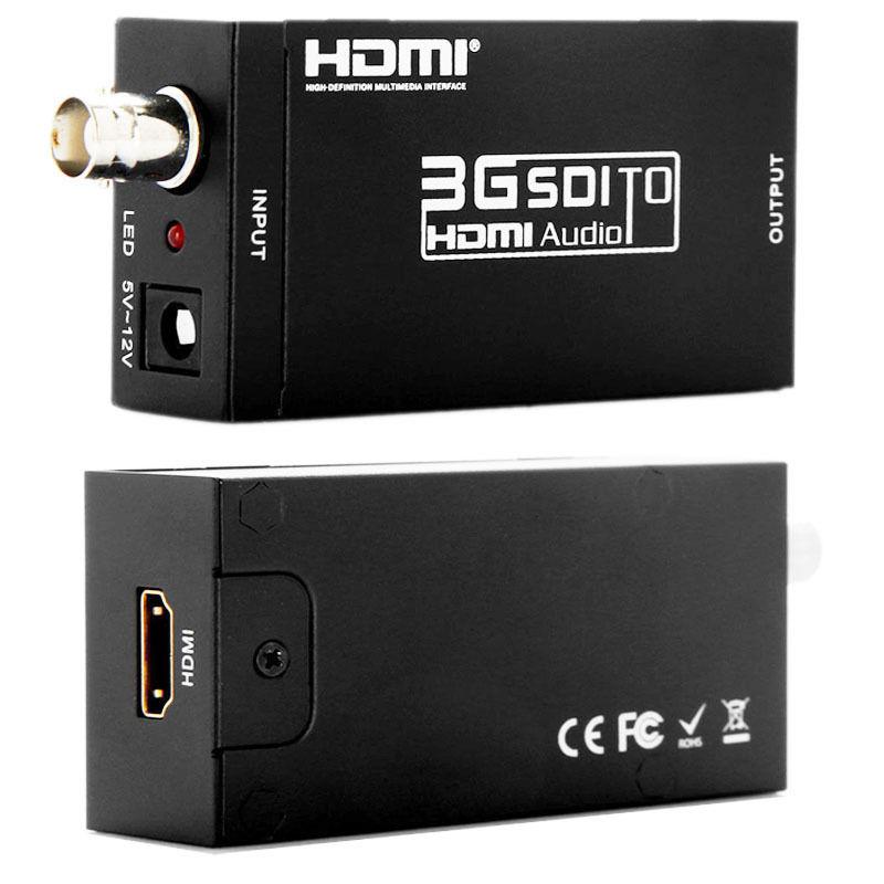 Kaycube MINI Extender BNC 3G convertisseur SDI vers HDMI SD-SDI adaptateur HD-SDI vers HDMI avec adaptateur secteur US prise EU noir Mini taille