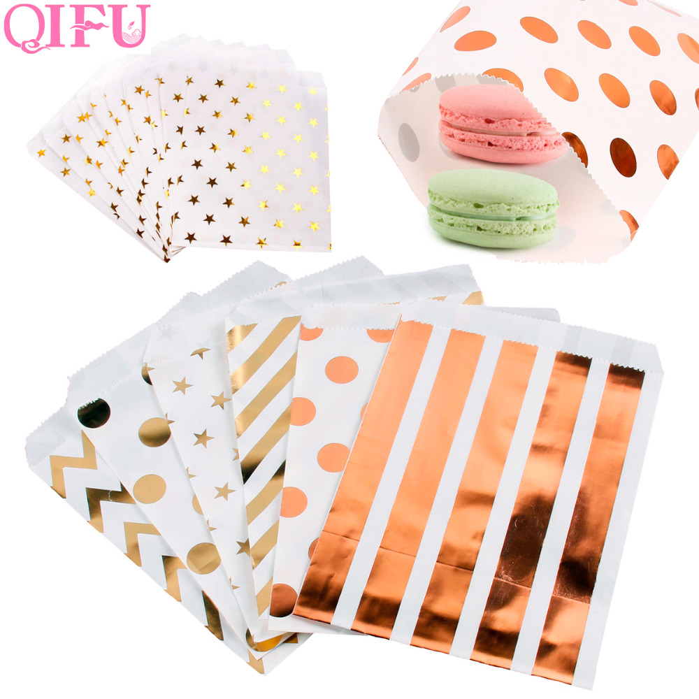 QIFU 25pcs Candy Bag Kraft Paper Popcorn Bag Wavy Stripes Christmas Goodie Bags Printed Paper Treat Bags Wedding Birthday DecorQIFU 25pcs Candy Bag Kraft Paper Popcorn Bag Wavy Stripes Christmas Goodie Bags Printed Paper Treat Bags Wedding Birthday Decor