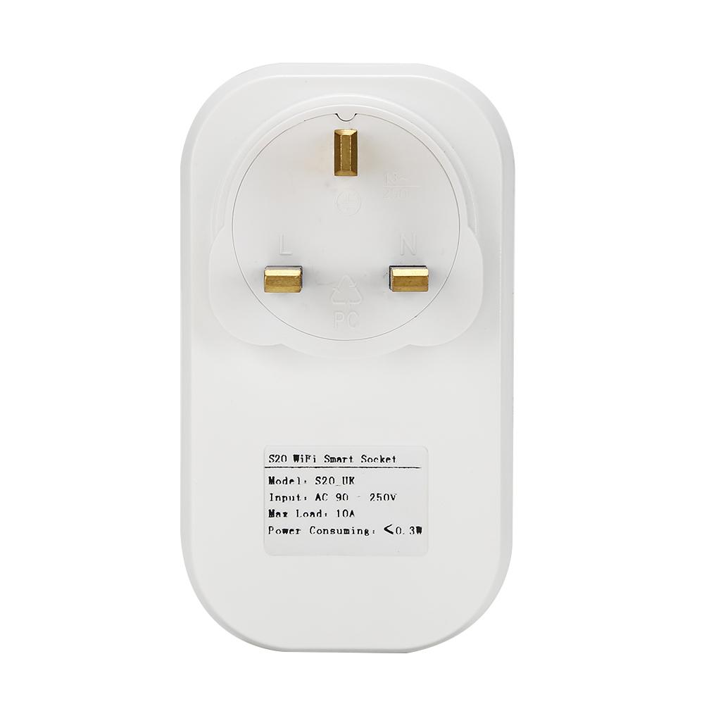 Gorący sprzedawanie Sonoff S20 Inteligentnego Domu Ładowania Adapter Bezprzewodowy Inteligentny Przełącznik BEZPRZEWODOWY Pilot Zdalnego Sterowania Gniazdo Zasilania UE/USA/UK Standard 16