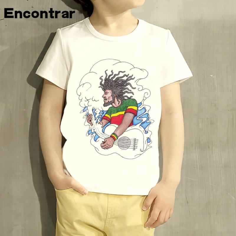 Kids singer Bob Marley Reggae Rastafari Design Baby Boys/Girl TShirt Kids Funny Short Sleeve Tops Children Cute T-Shirt,HKP4118
