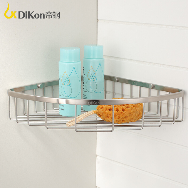 Dikon Single Corner Angle Basket Shelves Gl16 Bathroom Shelf 304 Stainless Steel Brushed Surface
