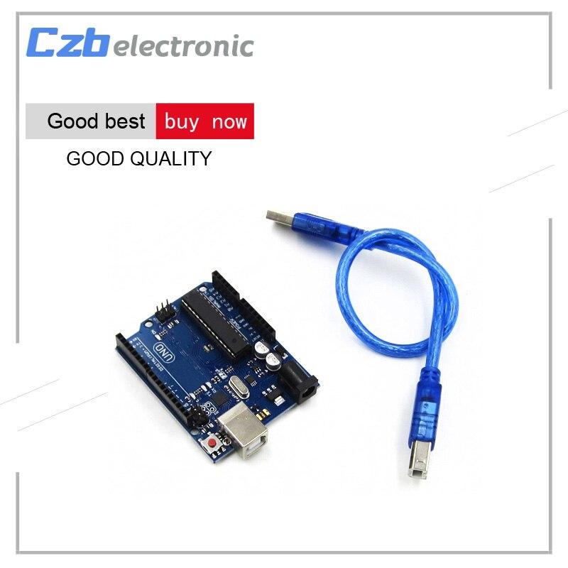 Un ensemble UNO R3 MEGA328P ATMEGA16U2 pour Arduino Compatible avec LOGO avec USB câble