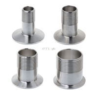 Adaptador de tubulação de aço inoxidável  rosca de tubo de encaixe  tri braçadeira  adaptador dn15 dn20 dn25 dn32