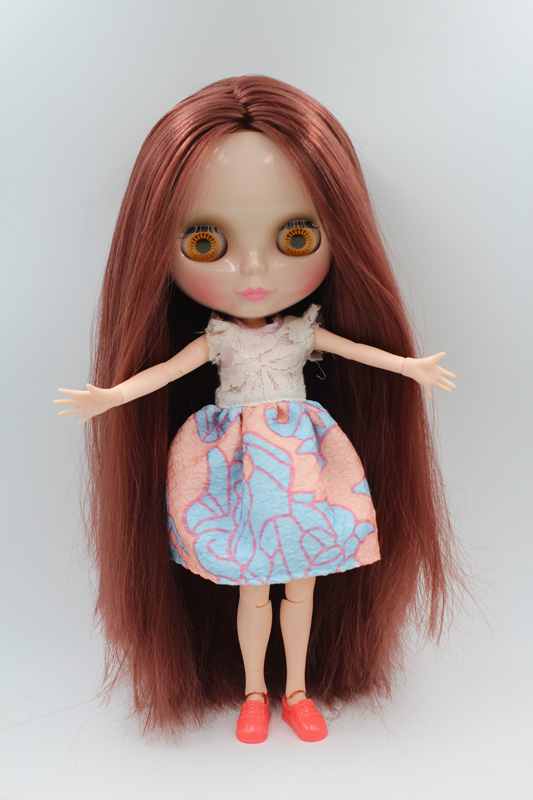 Free Shipping BJD joint RBL-224J DIY Nude Blyth doll birthday gift for girl 4 colour big eyes dolls with beautiful Hair cute toy free shipping cheap rbl no 1 7 diy nude blyth doll birthday gift for girls 4 colour big eyes dolls with beautiful hair cute toy