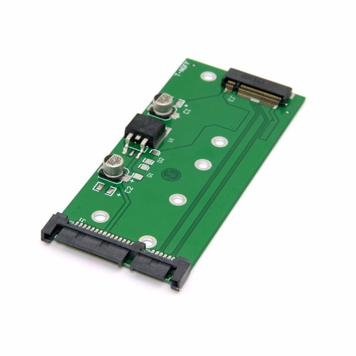 M.2 NGFF pcie pci express PCI-E 2 Lane SSD to 7mm 2.5 SATA 22pin hard disk case PCBA for E431 E531 X240S Y410P Y510P