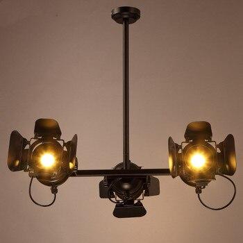 الصناعية الأزياء تدوير علوي صالون قلادة led أضواء الشمال خمر استوديو الصور الملابس متجر المهنية شنقا مصباح