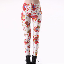 New Arrival 3226 Sexy Girl Spain Switzerland National Flag Printed Elastic Fitness Polyester Workout Women Leggings