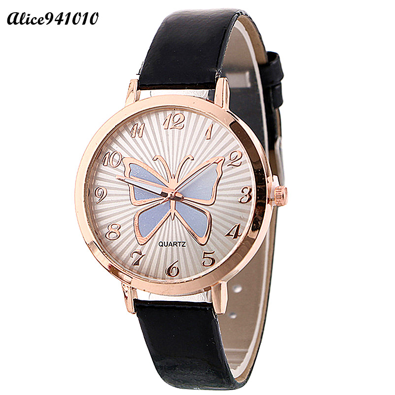 Hot Sale Elegant Watch Women Pattern Quartz Watch Leather Strap Belt Table Watch Dial Wristwatch Dress Clock drop shipping hot design leather strap watch elegant quartz wristwatch men women clock black