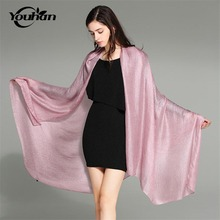 YOUHAN 2017 Fashion Winter Scarves Women Linen Scarf Pure Color Brand Scarf Luxury Female Winter Shawls And Wraps(China)