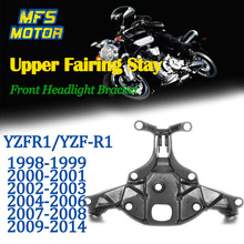 Upper Stay Brackets For 98-14 Yamaha YZFR1 YZF R1 Front Headlight Fairing Bracket Motorcycle Parts 1998 1999 2000 2001 2002-2014 aftermarket free shipping motorcycle parts exhaust hanger brackets for yamaha 2000 2001 2002 2003 2004 2005 yzf r1 chrome