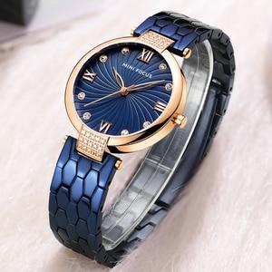 Image 3 - Reloj Mini Focus Mujer Women Watch Famous Luxury Brands Stainless Steel Elegant Watches For Women 2019 Quartz Ladies Watches