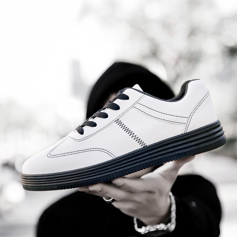 2019 new wild trend youth college students men's casual sports shoes white Korean men's shoes