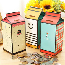 US $0.83 30% OFF|Milk Design Money Eating Box Cute Paper Bank Piggy Bank Coins Box Money Coin Saving Bank For Children Toys Gift Home Decoration-in Money Boxes from Home & Garden on Aliexpress.com | Alibaba Group