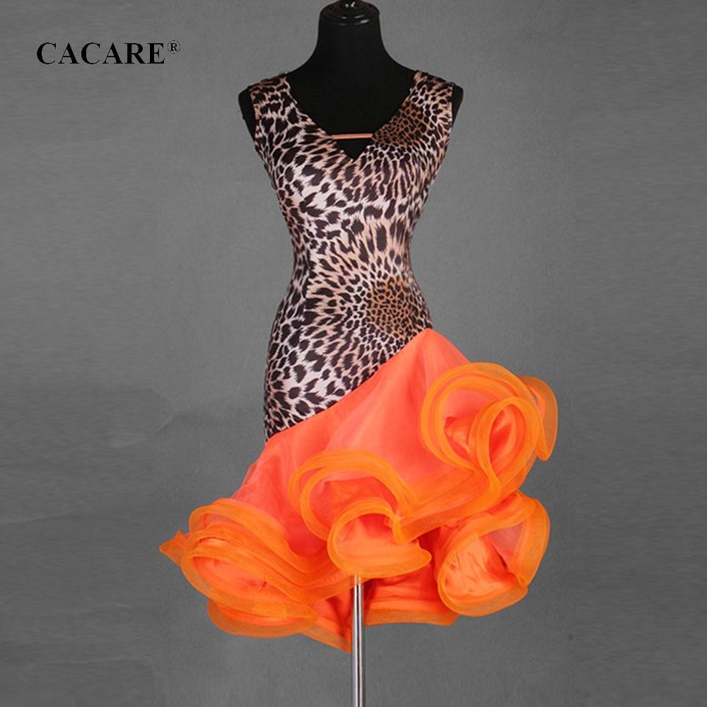 CACARE Latin Dance Dress Women Latin Dance Competition Dresses Fringe Dress Salsa Costumes Ballroom Tango CHEAP D0310 Fluffy Hem