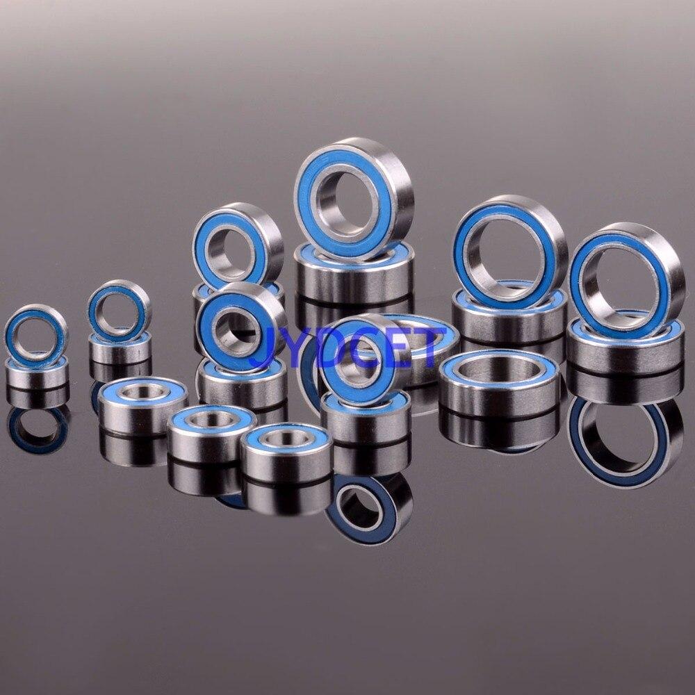 Rodamiento-13 RC Traxxas Slash 4x4 Juego de rodamiento de bolas de estampida 21 unids de goma azul métrica sellada