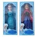 New Hot Sell movie elsa and anna Princess 30CM anna elsa doll Toys Movable joints boneca elsa
