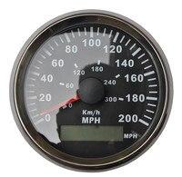Universal 3 3/8 GPS Speedometer Gauge Black Background Black Bezel Red LED Backlight For ATV UTV Golf Go Car
