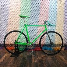 Piñón fijo bicicleta 700C pista bicicleta marcha única bicicleta vintage bicicleta fixie DIY marco 58cm