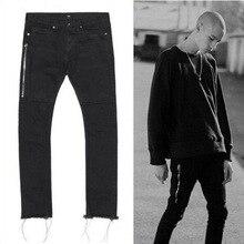 2016 New Arrival Summer Style Men Jeans Korean Slim Skinny Ripped Jeans For Men Zipper Ruched Denim Men's Trousers