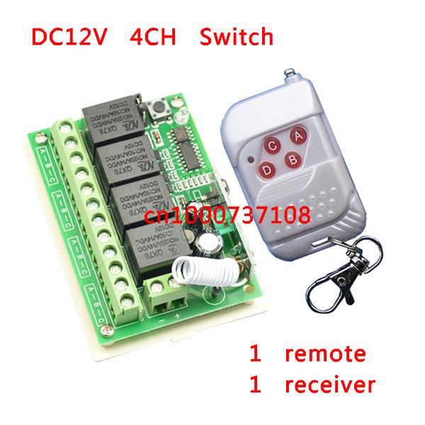 DC12V 4channels rf wireless switch mode power supply Momentary toggle switch with learning button 1 transmitter and1 receiver hi fi акустика sounds of voices from the golden state f 215 15 ktv