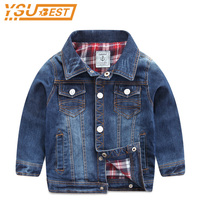 New 2017 Boys Denim Jackets Long Sleeve Kids Clothing Causal Boys Clothes Children Outwears Autumn Costume