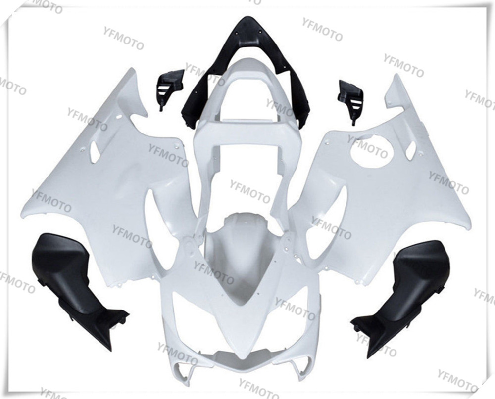 Motorcycle ABS White Unpainted Fairing Body Work Cowling For HONDA CBR600F CBR 600F CBR 600 F F4I 2001-2003 +3 Gift
