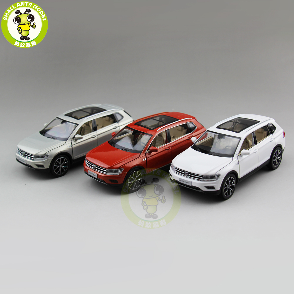 1/32 VW Volkswagen Tiguan L 2017 SUV Diecast Metal Model CAR Toys for kids children Sound Lighting Pull Back gifts collection