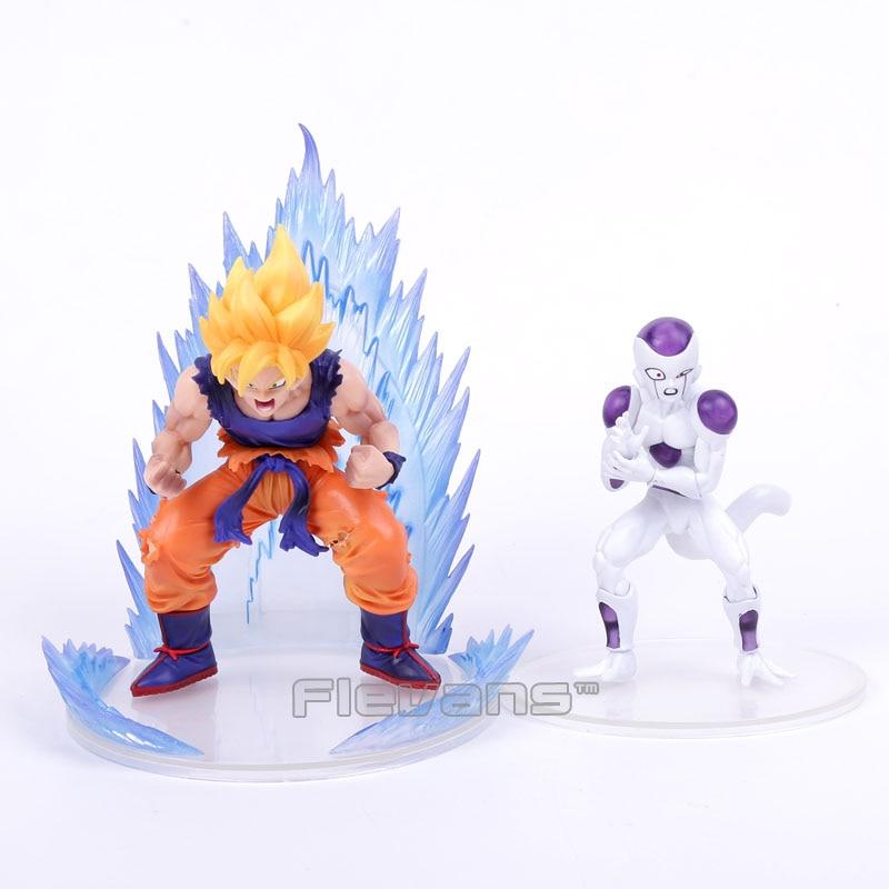Anime Dragon Ball Z Super Saiyan Son Goku & Freeza PVC Figures Collectible Model Toys 2pcs/set hot toys dragon ball super saiyan goku model pokemon kids toys toys anime deadpool funko pop dragon ball pvc 1pcs
