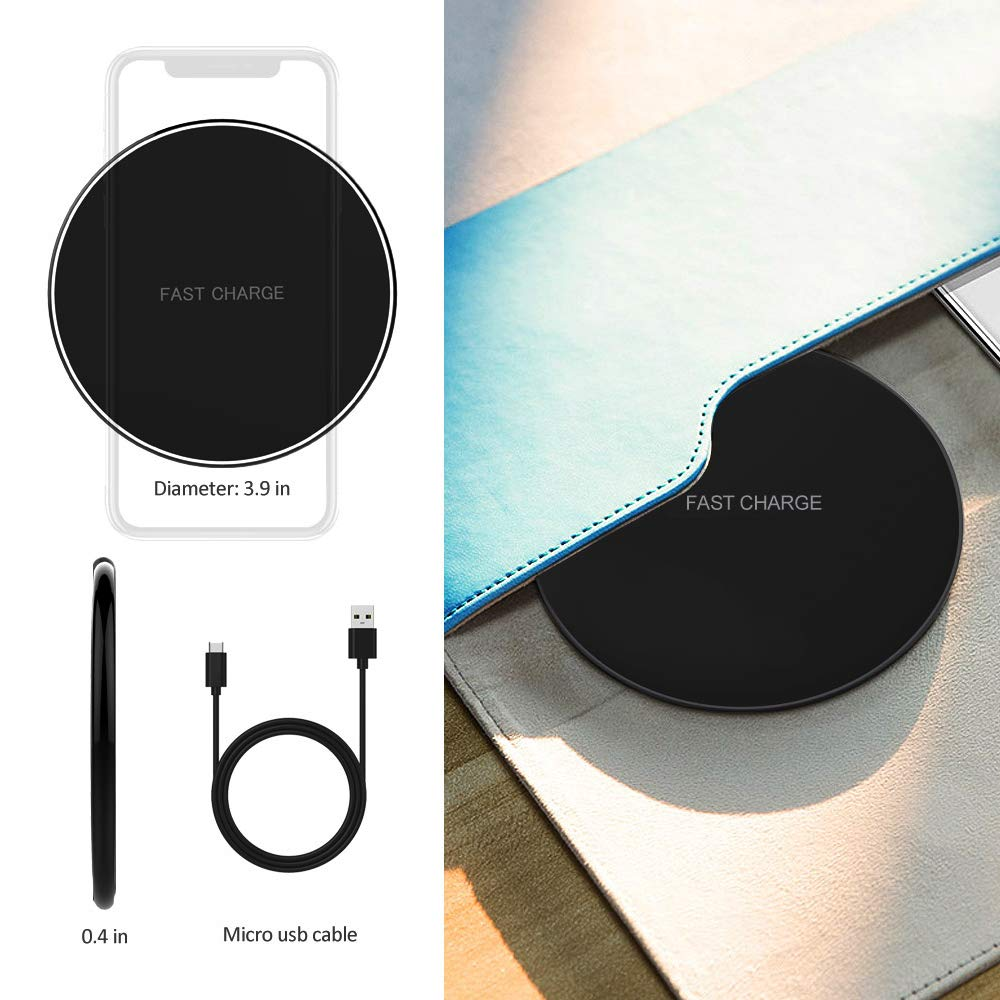 Image 3 - NTONPOWER 10W Fast Wireless Charger For iPhone X 8 XS Max XR Qi Wireless Charger for Samsung S8 S9 Plus USB Phone Charger Pad-in Mobile Phone Chargers from Cellphones & Telecommunications