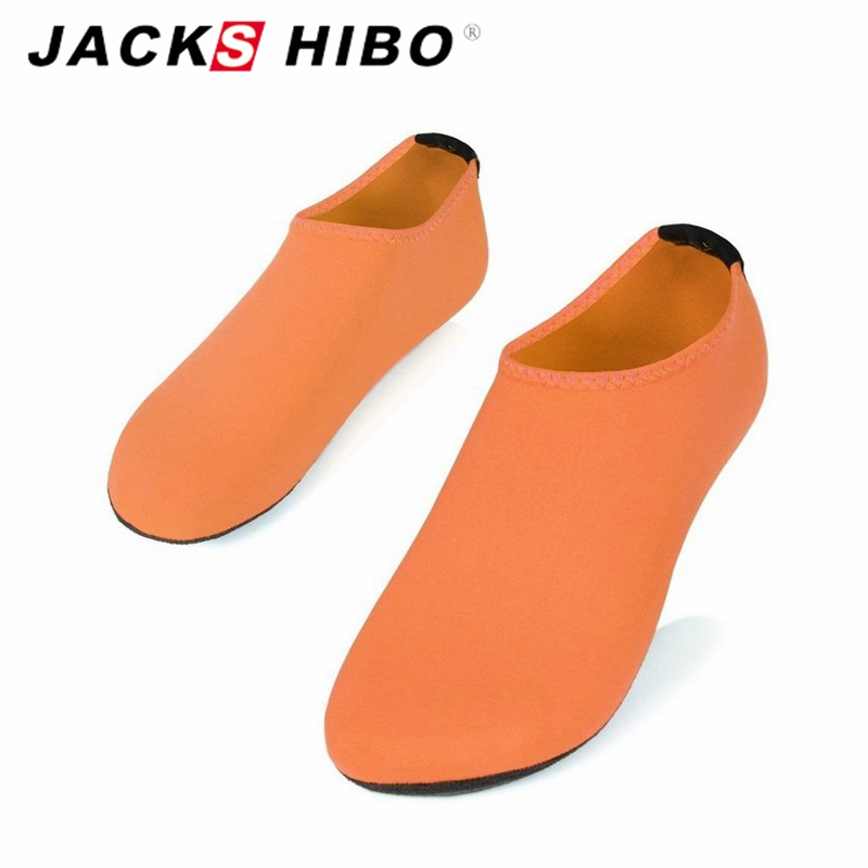 JACKSHIBO Fashion Women Sandal Design Unisex Beach Water Shoes Female Sandalias Slip On Aqua Slippers for Beach Waterpark Shoes