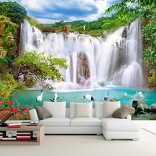 Custom 3D Wall Murals Nature Landscape Waterfalls Photo Wallpaper Living Room TV Sofa Backdrop Wall Decor Classic Wall Paintings