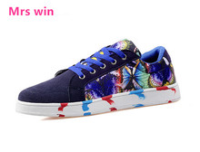 Selling men and women skateboarding shoes sneakers zapatillas hombre printing couple breathable flat with board shoes