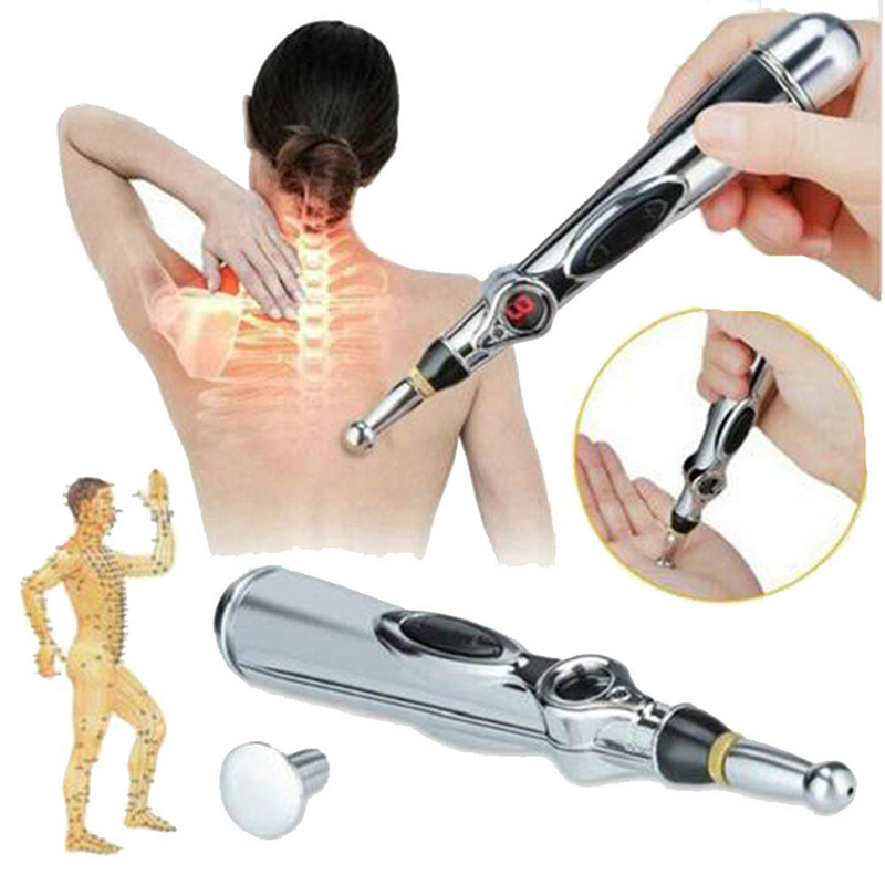 2019 New Electronic Acupuncture Pen Electric Meridians Laser Therapy Heal Massage Pen Meridian Energy Pen Relief Pain Tools-in Massage & Relaxation from Beauty & Health