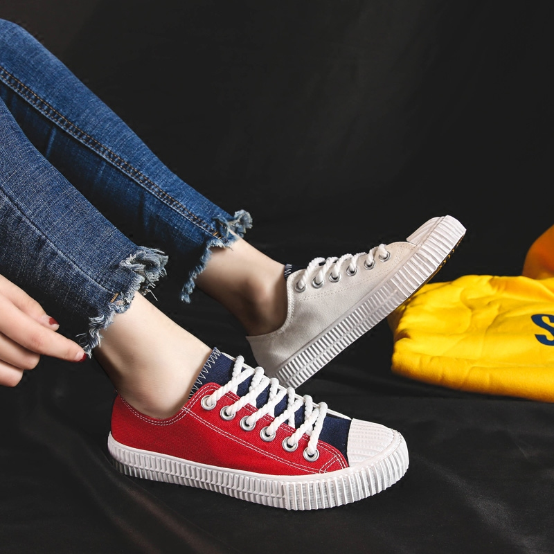 De Corea Harajuku 2018 Lona Zapatos Ulzzang Real Estudiante I Super Fuego Planos Rojo azul Xwdqxrq5