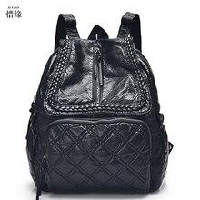 Женщины Симпатичные Backbag Женщины Черный Настоящее Бренд Известный Mochila Эсколар Рюкзак Для Девочек-Подростков Feminina Школьные Bookbag рюкзаки