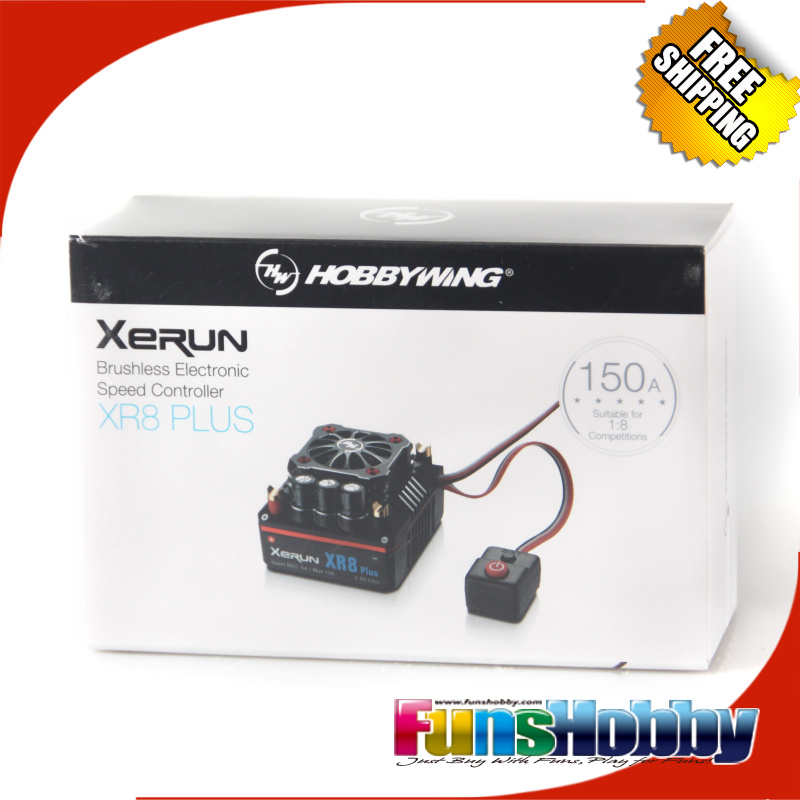 Hobbywing XERUN XR8 Plus 150A Sensor RC ESC Speed Controller For 1 8 Buggy Competition Losi