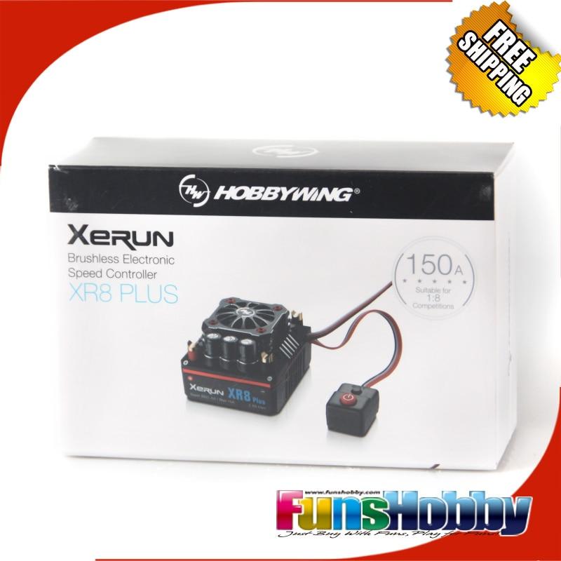 Hobbywing XERUN XR8 Plus 150A Sensor RC ESC Speed Controller For 1:8 Buggy Competition Losi Hongnor COD.30113300 skyrc toro ts160 150a esc competition electronic speed controller for 1 10 1 10 scale rc car 1 8 1 8 scale rawler parts