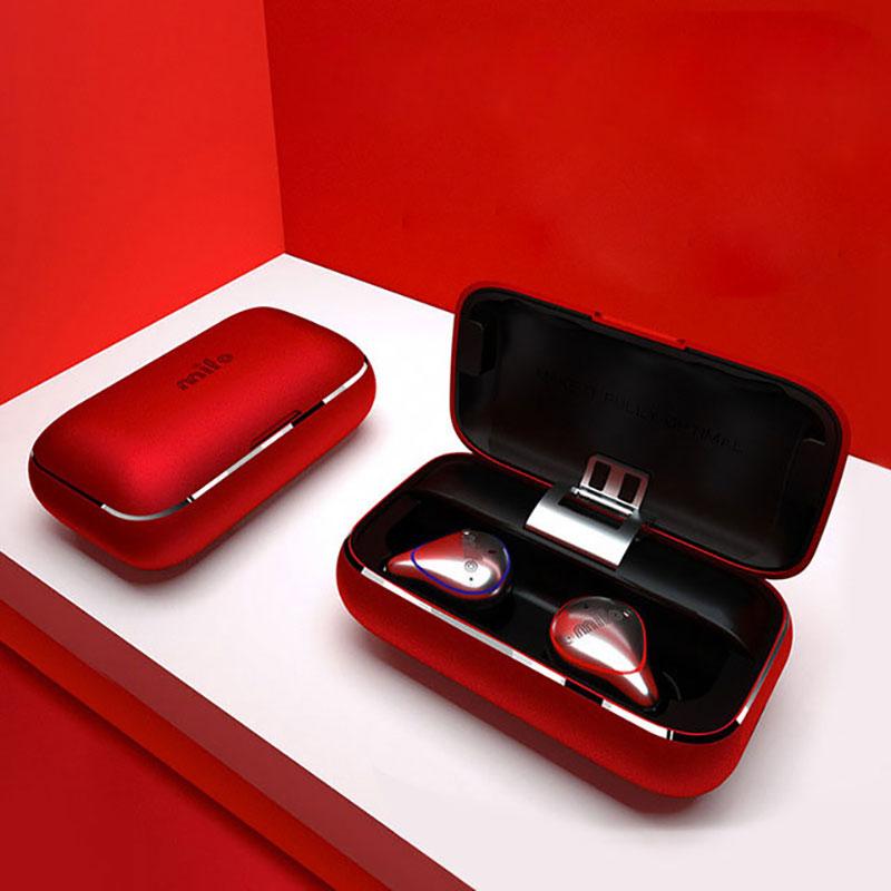 Som Hi-Fi Fones de Ouvido sem fio Bluetooth 5.0 Fones de Ouvido Bluetooth À Prova D' Água com Microfone Fones de Ouvido Bluetooth com caso De Carregamento Portátil