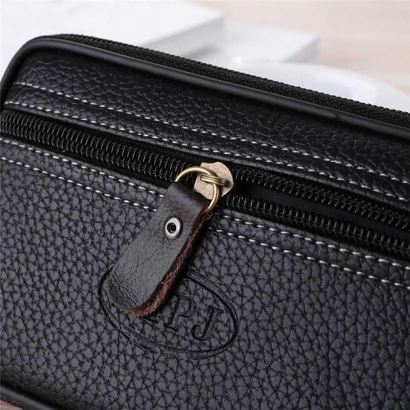 2019 Vintage hommes couleur Pure en cuir Messenger sac pièce sac téléphone sac pochette taille sac porte monnaie homme sac à main A30
