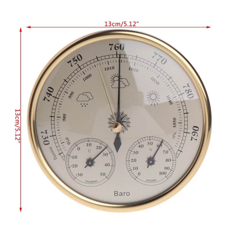 Wall Mounted Household Barometer Thermometer Hygrometer Weather Station Hanging 77UC Wholesale Dropshipping