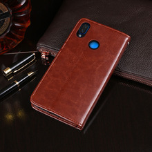 For Huawei Y6 2019 Case Wallet Flip Business Leather Coque Phone for Cover Fundas Accessories