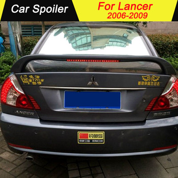 For Mitsubishi Lancer 2006-2009 Rear Spoiler ABS Material Car Rear Wing Primer Color Car Tail Wing Decoration Trunk Spoiler