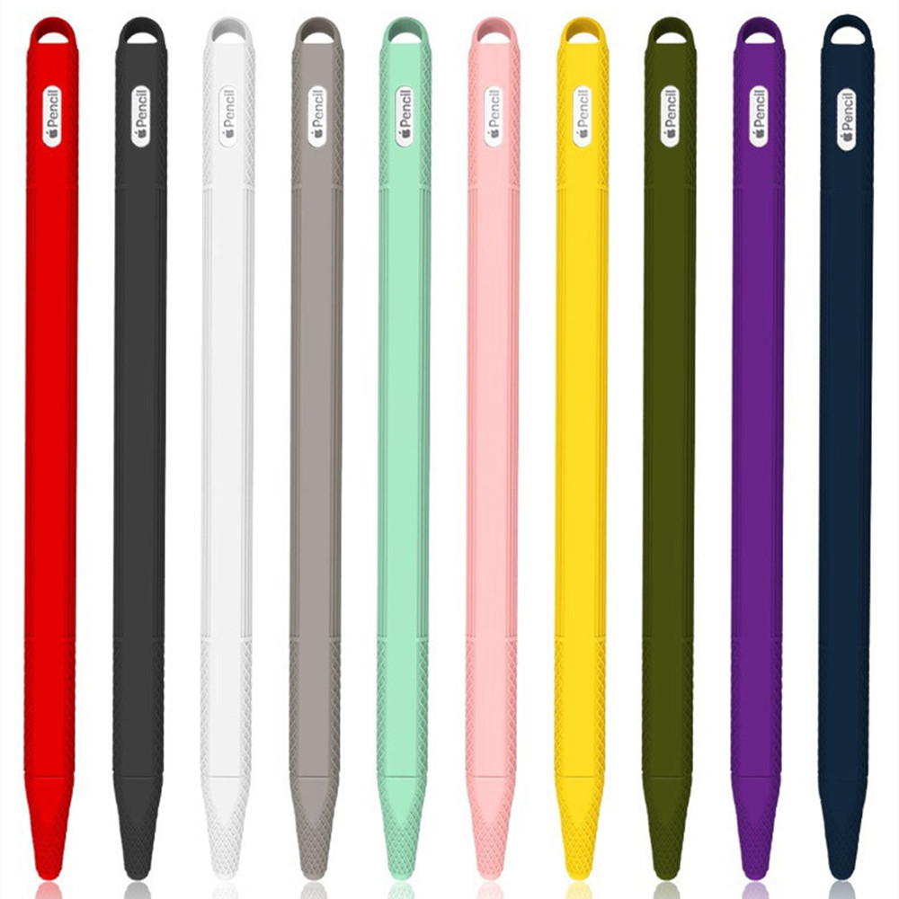 Soft Silicone For Apple Pencil 2nd Generation Case For IPad Pencil 2 Cap Tip Cover Holder Tablet Touch Pen Stylus Pouch Sleeve