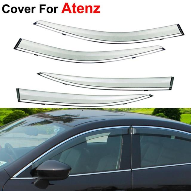 4pcs/lot Awnings Shelters Vent Rain Sun Shield Window Visor For Mazda 6 Atenza 2013 2014 2015 Covers Car Styling Guard
