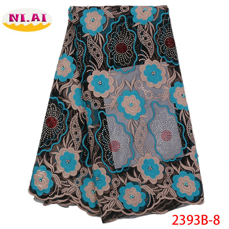 Red 2018 African Beaded Lace Fabrics Embroidered Nigerian Guipure Lace Fabric High Quality Lace French Net