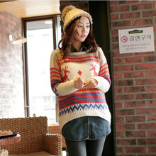 2016 Korean style Christmas Sweater womens Knitted  female deer winter jumper Woman Cardugans Sweaters