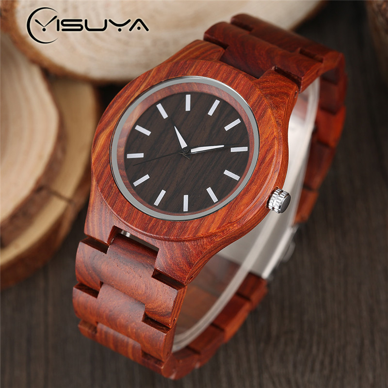Creative Bamboo Wood Watch Quartz Analog Nature Wood Band Casual Fashion Wooden Wrist Watch Gifts for Men Women Reloj de madera fashion top gift item wood watches men s analog simple bmaboo hand made wrist watch male sports quartz watch reloj de madera