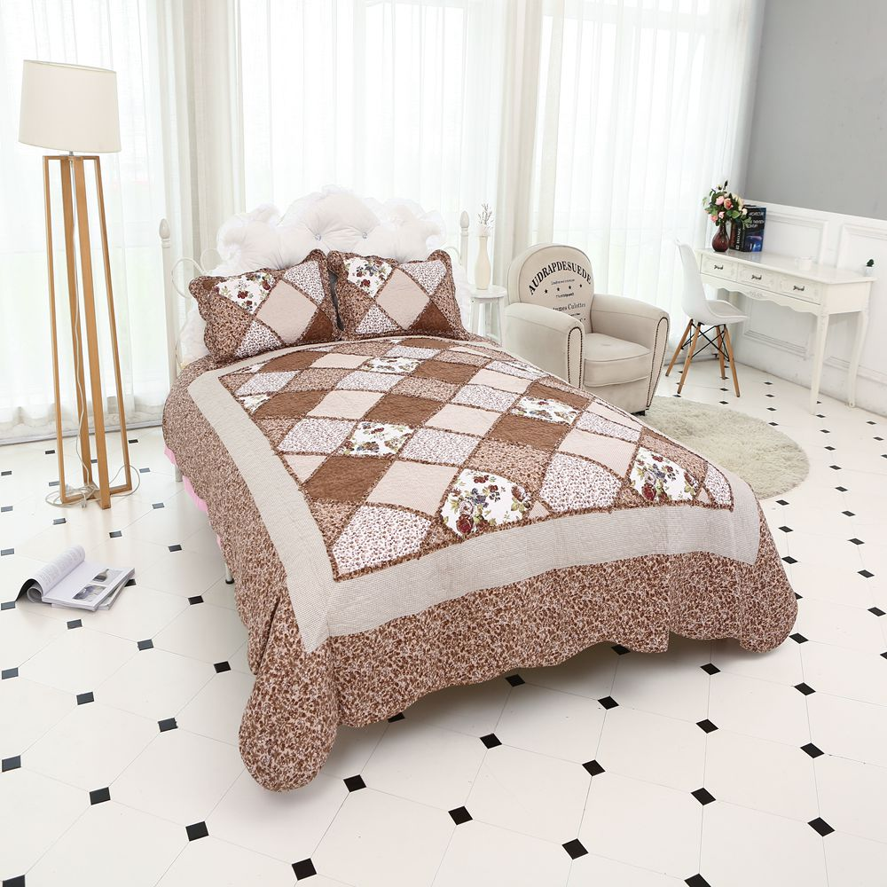 High Quality Plaid Bedspread On Bed Patchwork Warm Comfortable Plaid 220x240cm Size Sell For Bediing Gifts