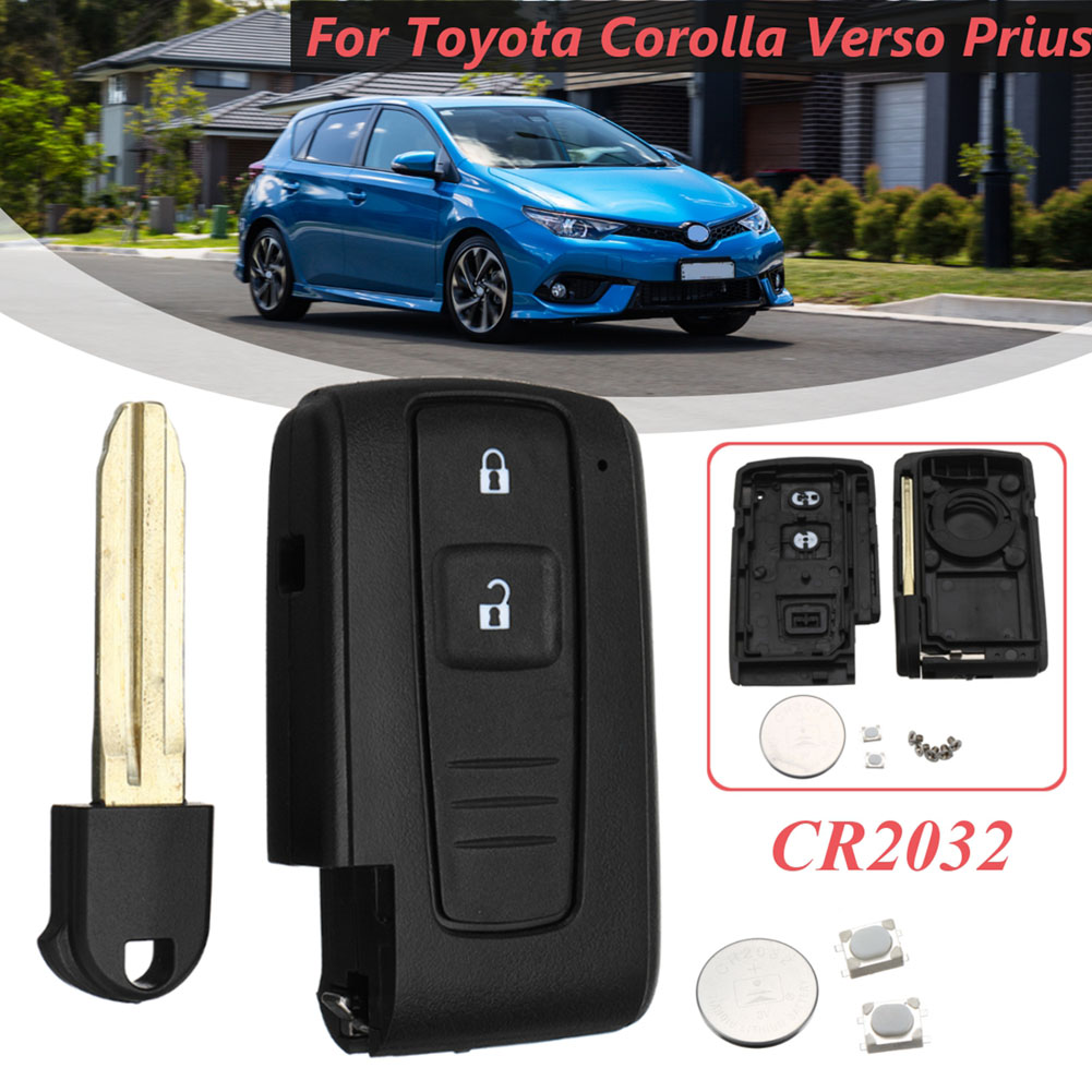 Prius Key Battery >> Us 9 63 44 Off 2 Button Remote Key Shell Fob Case Switch Battery For Toyota Corolla Verso Prius Nj88 In Key Case For Car From Automobiles
