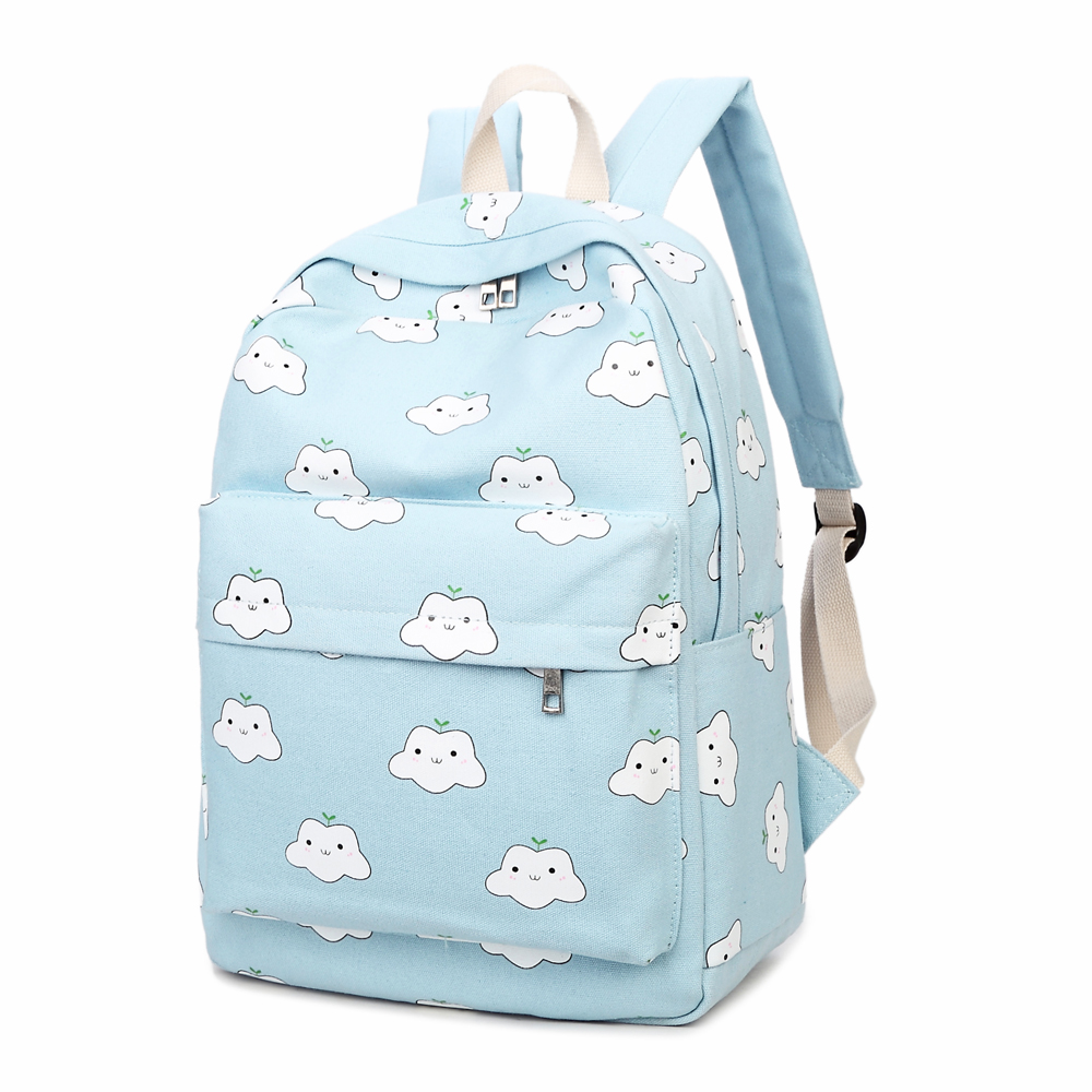 2017 Canvas Backpack Printing Women School Backpacks Boy Schoolbag For Teenagers Student Book Bag High Quality Girls Satchel купить